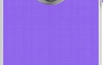 Kryt na mobil Aprolink Luminous Aluminum Ring Case pro iPhone 5s (IPH-512.PU) fialový