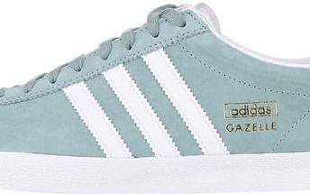 Světle zelené kožené pánské tenisky adidas Originals Los Angelles