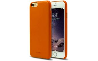 Kryt na mobil Aprolink Ultimate-thin leather back cover pro iPhone 6 (i6DF10.OR) oranžový