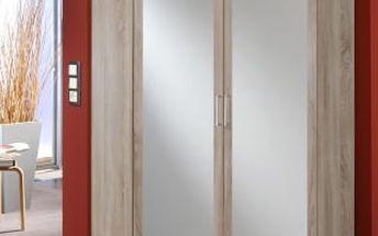 SCONTO CLICK Rohová šatní skříň