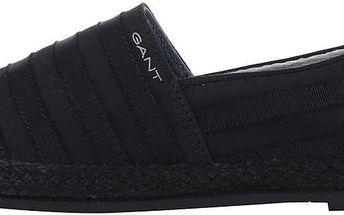 Černé dámské pruhované loafers GANT Gina
