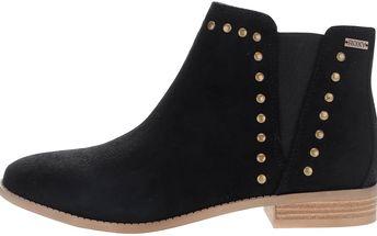 Černé chelsea kotníkové boty s aplikací Roxy Austin