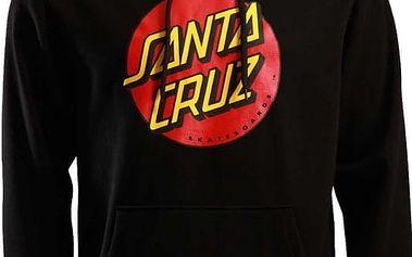 mikina SANTA CRUZ - Classic Dot Black (BLACK) velikost: S