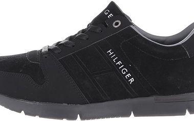 Černé pánské semišové tenisky Tommy Hilfiger