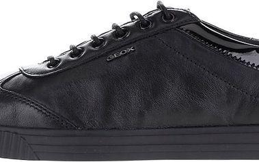 Černé dámské kožené tenisky Geox Amalthia B