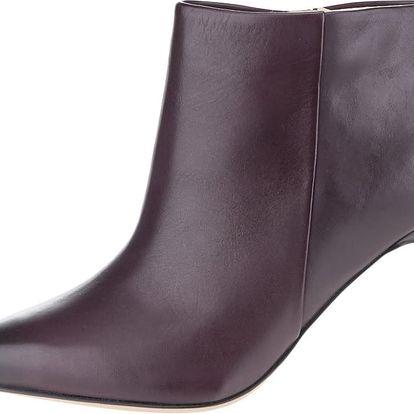 Vínové dámské kožené kotníkové boty Clarks Dinah