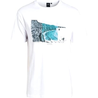 triko RIP CURL - Double Frame Ss Tee Optical White (3262)