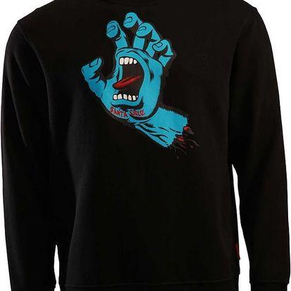 mikina SANTA CRUZ - Screaming Hand Black (BLACK) velikost: M