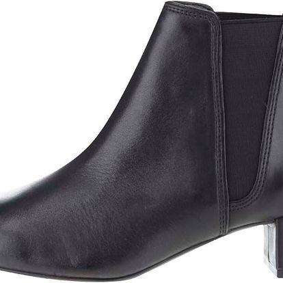 Černé dámské kožené kotníkové boty Clarks Cala Jeans