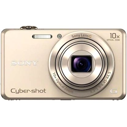 Digitální fotoaparát Sony DSC-WX220 zlatý + Doprava zdarma