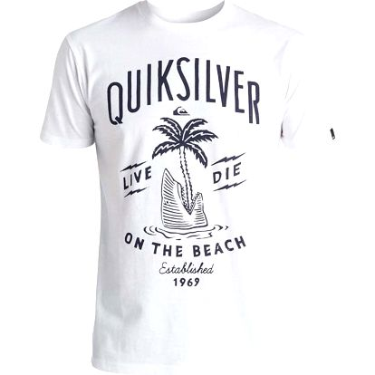 triko QUIKSILVER - Classic Tee Ss Shark Island (WBB0) velikost: XXL