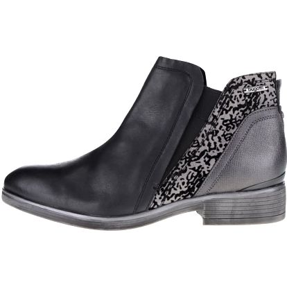 Šedo-černé dámské kotníkové boty s detaily bugatti Insa