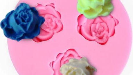 Silikonová formička na cukrové růžičky - růžová - dodání do 2 dnů