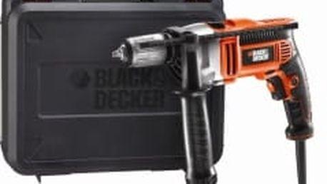 BLACK&DECKER KR805K Příklepová vrtačka 800W + rychl. sklíčidlo 13mm + kufr