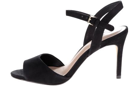 Černé semišové sandálky na jehlovém podpatku ALDO Volongo