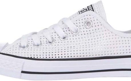 Bílé perforované dámské tenisky Converse Chuck Taylor All Star