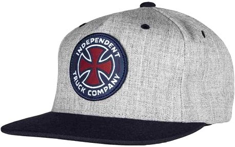 kšiltovka INDEPENDENT - ITC Cross II Snapback Dark Heather/Indigo (DARK HEATHER INDIGO)