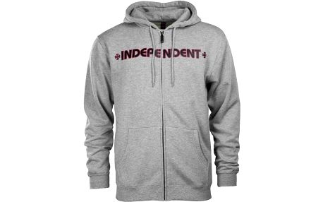mikina INDEPENDENT - Bar Cross Heather Grey (HEATHER GREY) velikost: XL