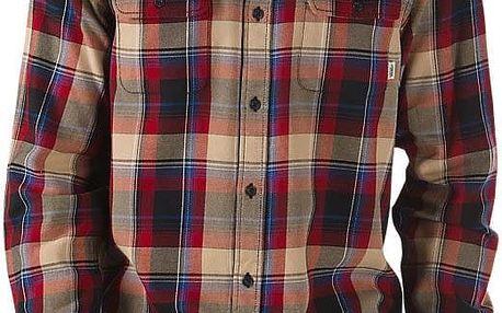košile VANS - Elm Red Dahlia/Blac (KEI)