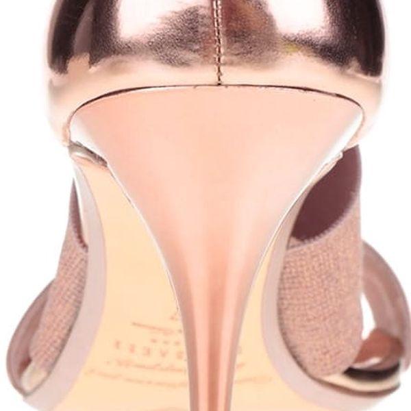 Sandály na podpatku v růžovozlaté barvě Ted Baker Leniya4