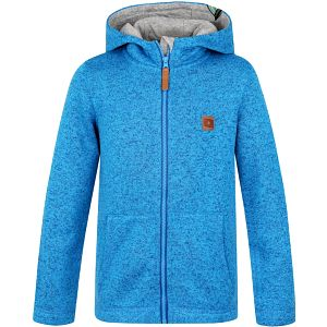 LOAP KIDS KEFIR dětský svetr s kapucí modrá 146/152
