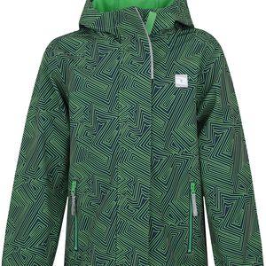 LOAP KIDS CELIO dětská softshellová bunda zelená 112/116