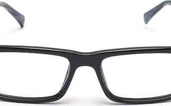 Nedioptrické brýle v moderním provedení - černé obroučky