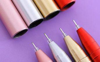 Gelové pero 0,5 mm - Černý a červený inkoust