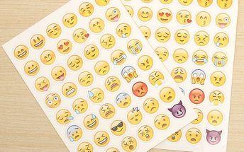 Emoji samolepky - 2 listy