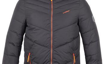 LOAP KIDS OSTEN dětská lyžařská bunda šedá 134