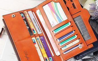 Peněženka na karty a telefon v 9 barvách