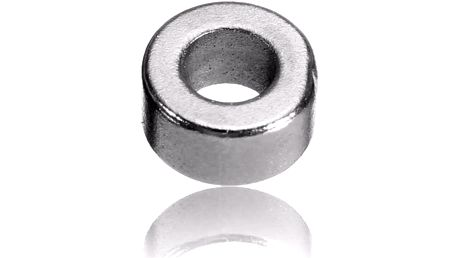 Silné neodymové magnety s otvorem (100 ks)