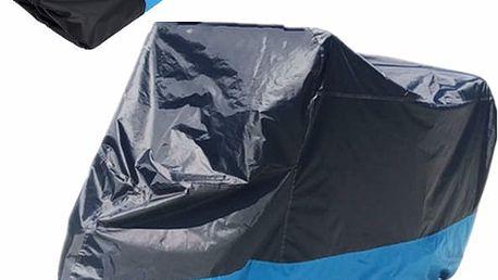 Ochranný voděodolný plášť pro motocykl - modrobílý (různé velikosti)