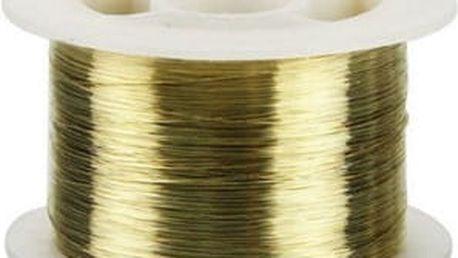 Řezací drát ze slitiny ve zlaté barvě
