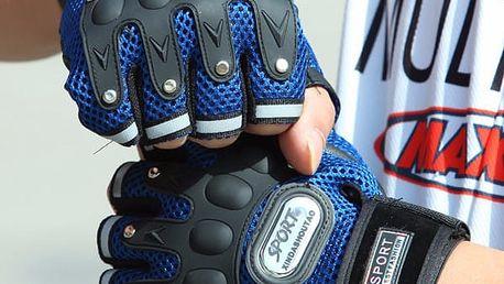 Cyklistické bezprsté rukavice - 4 barvy