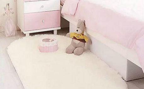 Pohodlný oválný kobereček