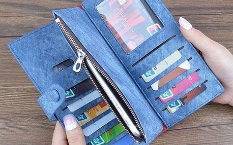 Elegantní denimová peněženka ve více barvách