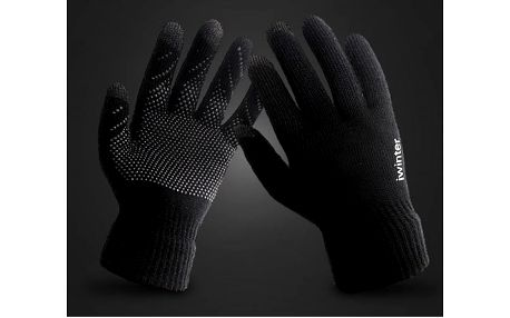 Pletené protiskluzové dotykové rukavice iWinter - 2 barvy
