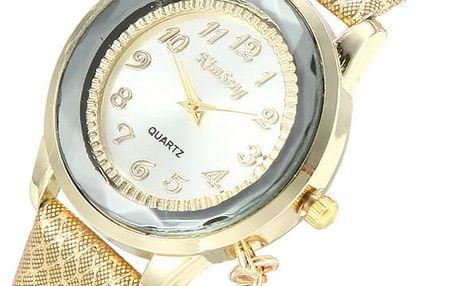 Elegantní dámské hodinky s přívěskem v podobě klíče
