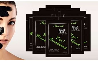Černá slupovací maska 10ks