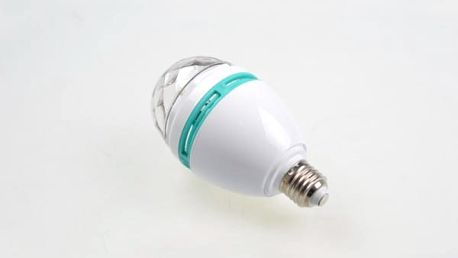 Rotující LED párty žárovka