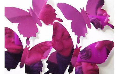 Balení zrcadlových 3D motýlků na zeď