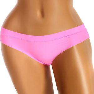 Jednobarevné bezešvé kalhotky růžová