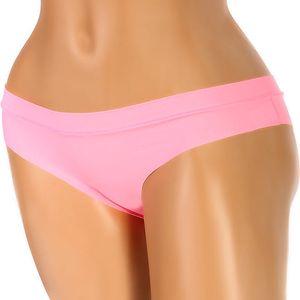 Jednobarevné bezešvé kalhotky světle růžová