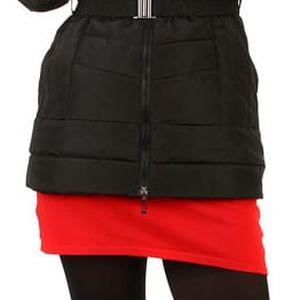 Zimní bunda s kožešinou na kapuci černá