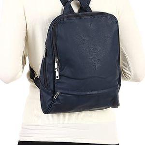 Elegantní koženkový batoh šedá
