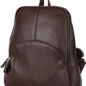 Koženkový batoh kávová