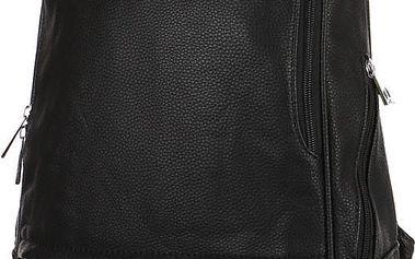 Elegantní koženkový batoh černá