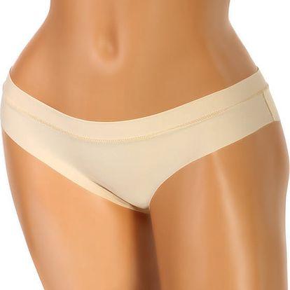Jednobarevné bezešvé kalhotky tělová