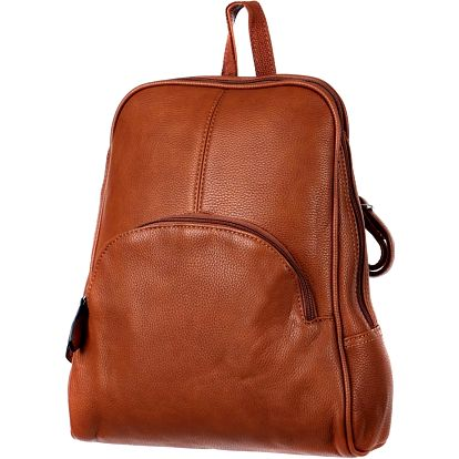 Koženkový batoh šedá